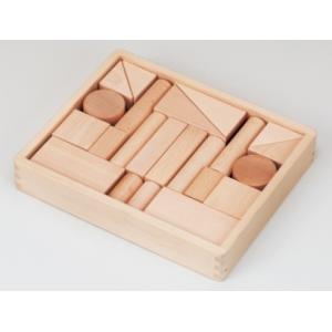木のおもちゃ 平和工業 木製 積み木 森のブナつみき1段 W-43|woodayice