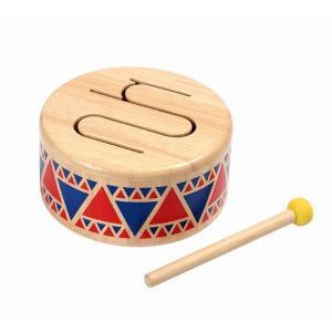 木のおもちゃ プラントイジャパンPLANTOYS 木製楽器 ソリッドドラム6404|woodayice