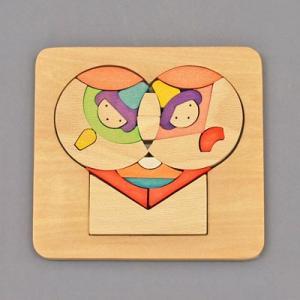 木のおもちゃ 横山組み木工房 木製 組み木 ハート歳時記 3月|woodayice