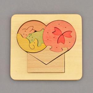 木のおもちゃ 横山組み木工房 木製 組み木 ハート歳時記 4月|woodayice