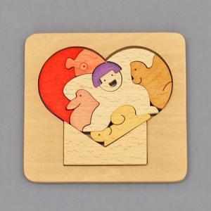 木のおもちゃ 横山組み木工房 木製 組み木 ハート歳時記 5月|woodayice