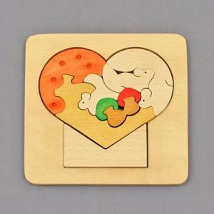木のおもちゃ 横山組み木工房 木製 組み木 ハート歳時記 9月|woodayice