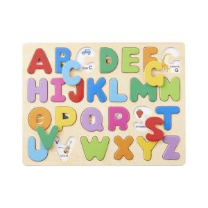 木のおもちゃ エド・インター 木製 知育玩具 ABCパズル813942|woodayice