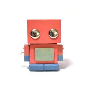 木のおもちゃ こまむぐ 知育玩具 ブリ木ロボ ピンク|woodayice