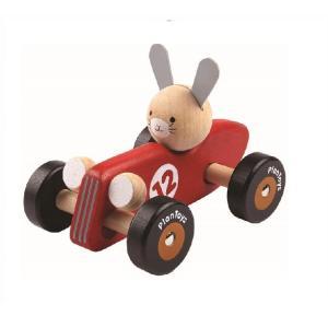 木のおもちゃ プラントイジャパンPLANTOYS 木製 車両・列車玩具ラビットレーシングカー 5704|woodayice