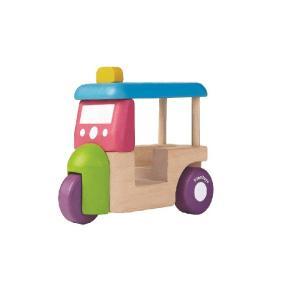 木のおもちゃ プラントイジャパンPLANTOYS 木製 車両・列車玩具トゥクトゥク 5443|woodayice