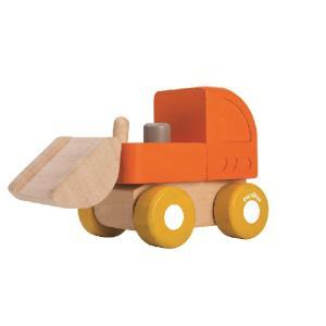木のおもちゃ プラントイジャパンPLANTOYS 木製 車両・列車玩具ミニブルドーザー 5441|woodayice