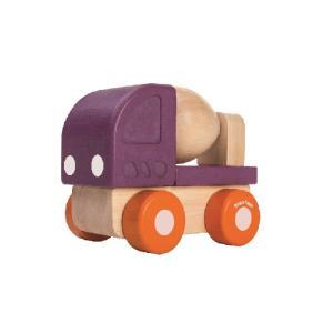 木のおもちゃ プラントイジャパンPLANTOYS 木製 車両・列車玩具ミニコンクリートミキサー 5442|woodayice