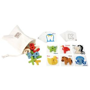木のおもちゃ プラントイジャパンPLANTOYS 木製 知育玩具アルファベット A-Z 5168|woodayice