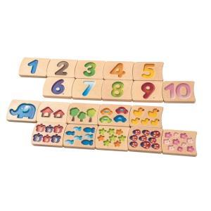 木のおもちゃ プラントイジャパンPLANTOYS 木製 知育玩具ナンバー 1-10 II 5641|woodayice