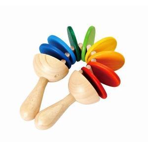 木のおもちゃ プラントイジャパンPLANTOYS 木製楽器 クラッター6413 woodayice
