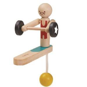 木のおもちゃ プラントイジャパンPLANTOYS 木製 知育玩具 ウェイトリフティングアクロバット 5366|woodayice