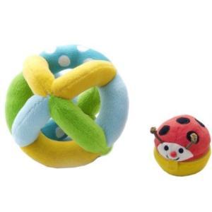 木のおもちゃ エド・インター 布のおもちゃ コロコロコロリン806531|woodayice