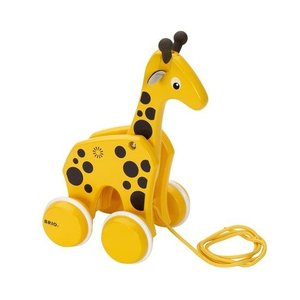 木のおもちゃ ブリオジャパン 知育玩具 プルトイ キリン|woodayice
