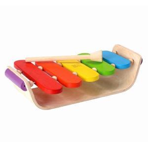 木のおもちゃ プラントイジャパンPLANTOYS 木製楽器 オーバルシロフォン6405|woodayice
