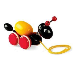 木のおもちゃ ブリオジャパン 知育玩具 ローリングエッグとアリさん|woodayice