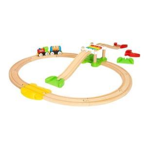 木のおもちゃ ブリオジャパン 車両・列車玩具 マイファーストビギナーセット|woodayice