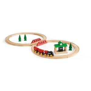 木のおもちゃ ブリオジャパン 車両・列車玩具 クラシックレール8の字セット|woodayice