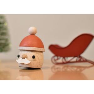 木のおもちゃ こまむぐ 知育玩具 どんぐりサンタ|woodayice