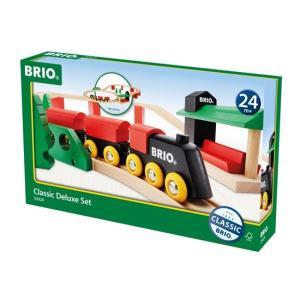 木のおもちゃ BRIO 木製 BRIOクラシックDXレールセット|woodayice