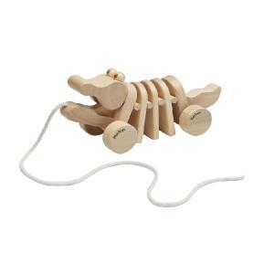 木のおもちゃ プラントイジャパンPLANTOYS 木製知育玩具 ダンシングアリゲーターナチュラル5721 サイズ 9.5X24.5X10.0cm|woodayice