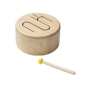 木のおもちゃ プラントイジャパンPLANTOYS 木製 楽器 ソリッドドラム ナチュラル 6439|woodayice