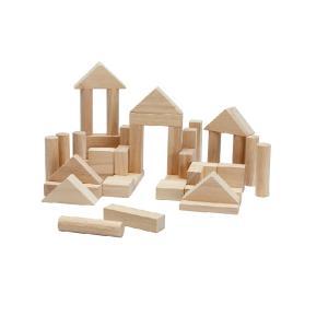 木のおもちゃ プラントイジャパンPLANTOYS 木製積み木 ユニットブロック40 ナチュラル 5512|woodayice