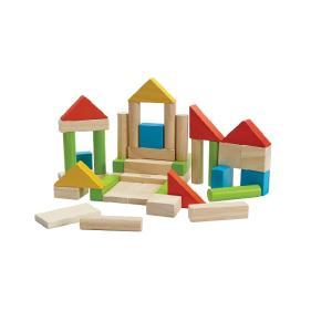 木のおもちゃ プラントイジャパンPLANTOYS 木製積み木 ユニットブロック40 カラー 5513|woodayice