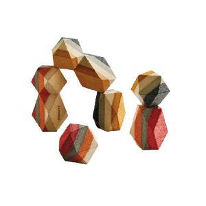 木のおもちゃ プラントイジャパンPLANTOYS 木製積み木 ジオスタッキングロック 5511|woodayice
