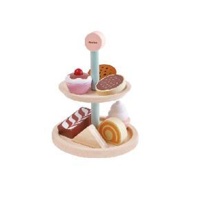 木のおもちゃ プラントイジャパンPLANTOYS 木製玩具 ベーカリースタンドセット 3489|woodayice