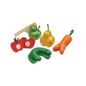 木のおもちゃ プラントイジャパンPLANTOYS 木製玩具 ワンキーフルーツベジタブル 3495|woodayice