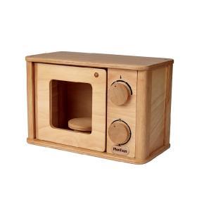 木のおもちゃ プラントイジャパンPLANTOYS 木製玩具 電子レンジ 3618|woodayice
