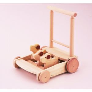 木のおもちゃ 平和工業 木製 森の押車(いぬ) W-035 woodayice