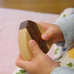 木のおもちゃ Let Wood Be 木製ベビートイ おにぎリンリン|woodayice