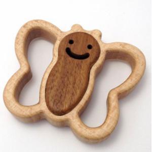 木のおもちゃ ブータレブー 木製ベビートイ サークルラトル・蝶|woodayice