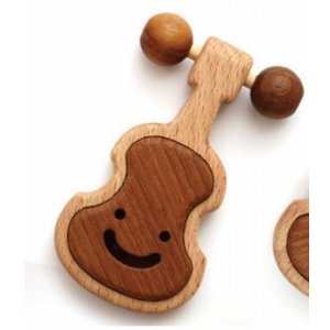 木のおもちゃ ブータレブー 木製ベビートイ ヴァイオリンのラトル|woodayice