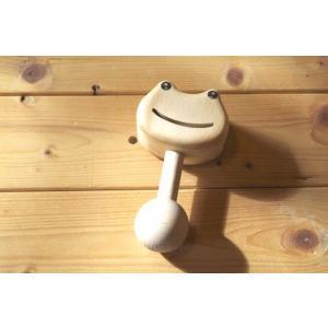 木のおもちゃ ナルカリクラフト 木製ベビートイ ゲロゲロバー|woodayice