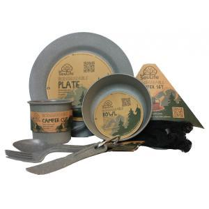 エコソウライフ キャンパーセット Camper Set Main Plate (Charcoal) 今ならポイント10倍|woodbell-selection