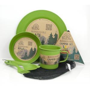 エコソウライフ キャンパーセット Camper Set Main Plate (Green) 今ならポイント10倍|woodbell-selection