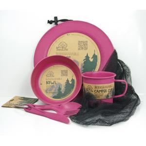 エコソウライフ キャンパーセット Camper Set Main Plate (Pink) 今ならポイント10倍|woodbell-selection