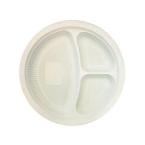 エコソウライフ Cornstarch Divided Plate 20pcs set 今ならポイント10倍|woodbell-selection