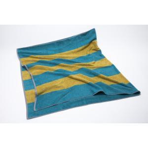 ヒポポタマス ミニバスタオル (CARIBBEAN BLUE&GOLD)|woodbell-selection