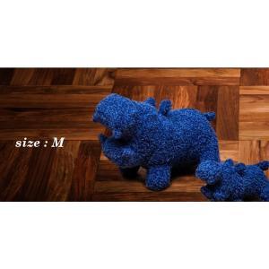 ヒポポタマス ぬいぐるみ・Soft Toy (M)Blue|woodbell-selection