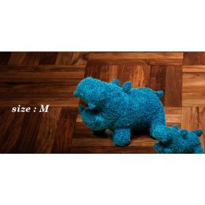 ヒポポタマス ぬいぐるみ・Soft Toy (M)CaribbeanBlue|woodbell-selection