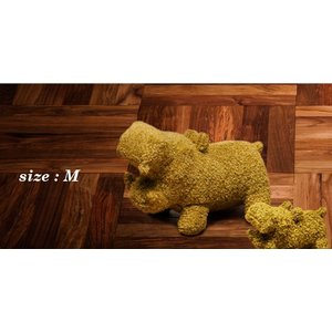 ヒポポタマス ぬいぐるみ・Soft Toy (M)Gold|woodbell-selection