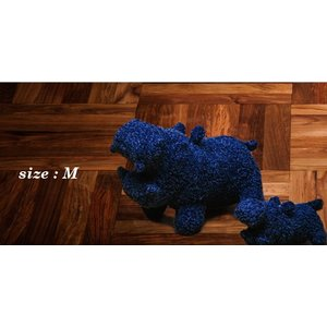 ヒポポタマス ぬいぐるみ・Soft Toy (M)NavyBlue|woodbell-selection