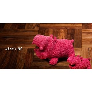 ヒポポタマス ぬいぐるみ・Soft Toy (M)Rose|woodbell-selection