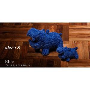 ヒポポタマス ぬいぐるみ・Soft Toy (S)Blue|woodbell-selection