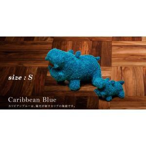 ヒポポタマス ぬいぐるみ・Soft Toy (S)CaribbeanBlue|woodbell-selection