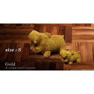 ヒポポタマス ぬいぐるみ・Soft Toy (S)Gold|woodbell-selection